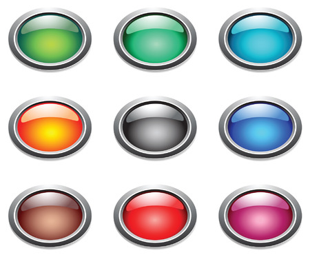 Vector oval color buttons.