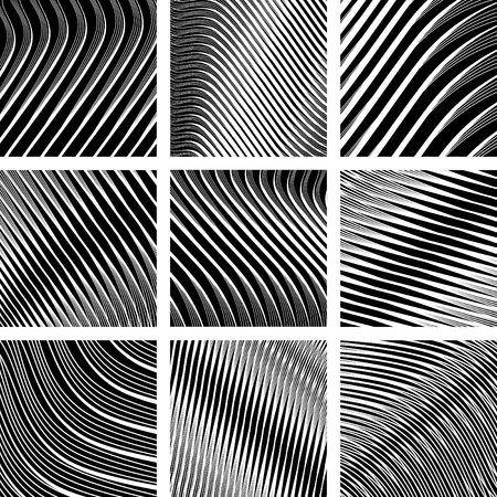 Abstract textured backgrounds in op art design