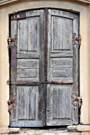 Old timeworn doors.
