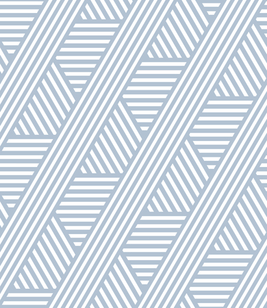 Illustration for Seamless striped lines pattern. Geometric texture. Vector art. - Royalty Free Image