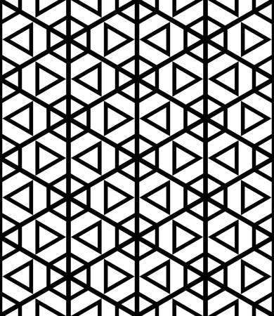 Illustration pour Seamless hexagons and triangles pattern. Geometric texture. Vector art. - image libre de droit