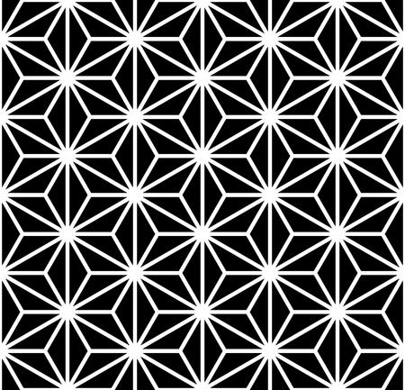 Ilustración de Seamless hexagons, triangles, diamonds and stars pattern. Geometric texture. Vector art. - Imagen libre de derechos