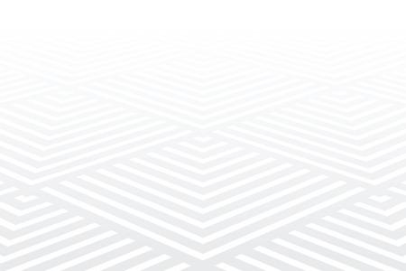 Illustration pour Geometric pattern. White textured background. Diminishing perspective view. Vector art. - image libre de droit