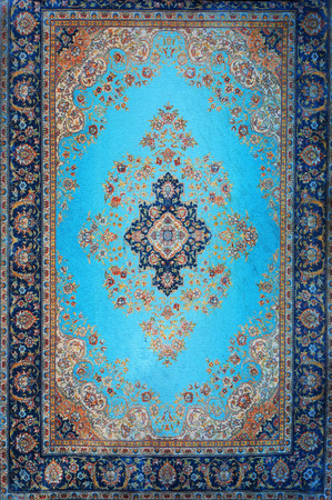 Foto de Traditional Turkish carpet. Ornamental floral pattern. - Imagen libre de derechos