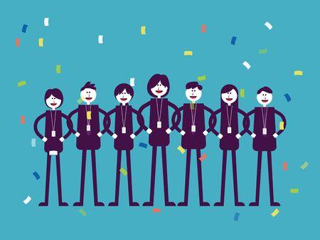 Illustration pour Colleagues professional office worker. Business teamwork concept, Flat cartoon vector illustration style design. - image libre de droit