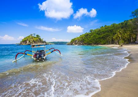 Tropical coastline of Nusa Penida island. Bali. Indonesia.