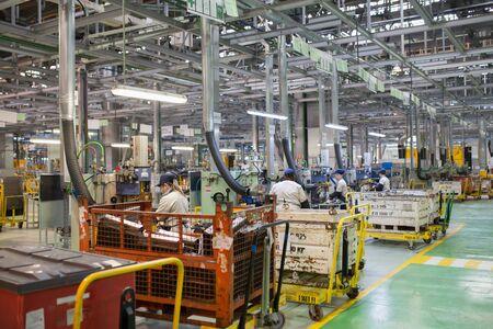 Foto für Izhevsk, Russia - December 15 2018: Assembly line production of new LADA car at Automobile Factory AVTOVAZ on December 15, 2018 in Izhevsk. - Lizenzfreies Bild
