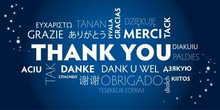 Illustration pour Thank You Word Cloud in different languages - image libre de droit
