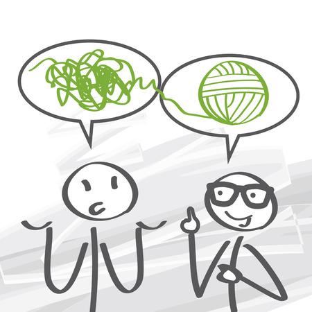 Illustration pour problem solving is a mental process in psychology - image libre de droit