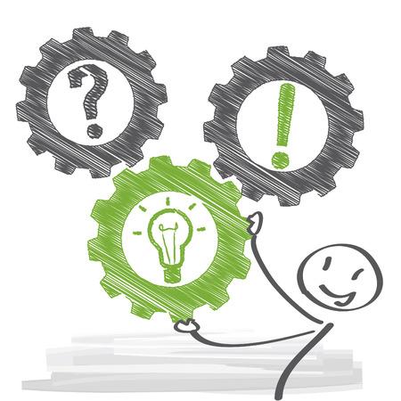 Illustration pour Problem and solution concept illustration - image libre de droit