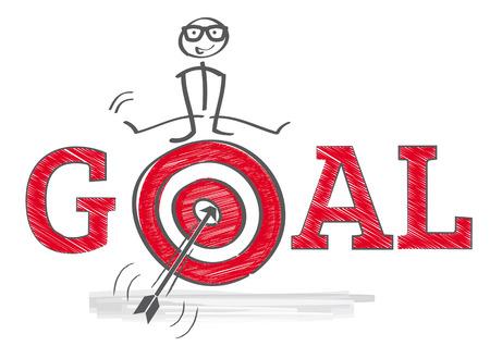 Illustration pour How to reach goals - Illustration - image libre de droit