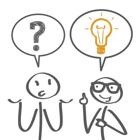 Illustration pour Problem solving - illustration - image libre de droit