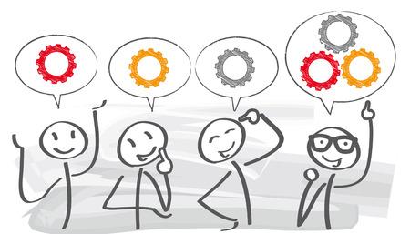 Illustration pour brainstorming creative team concept - image libre de droit