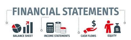 Illustration pour Banner financial statements concept vector illustration - image libre de droit