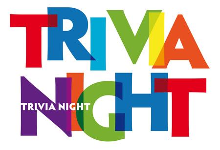 Illustration pour Trivia Night. Vector illustration letters banner, colorful badge illustration on white background - image libre de droit