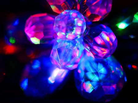 Foto de Beautiful flower colorful LED light decoration template for festival. - Imagen libre de derechos
