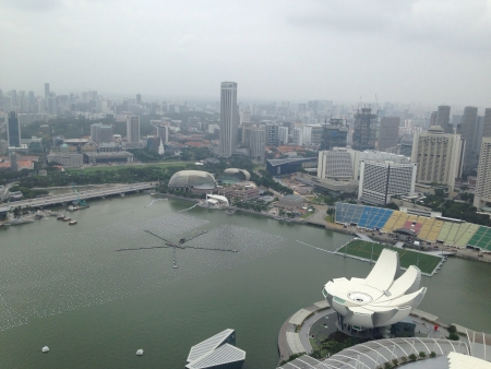 Day view on top of marina bay sands