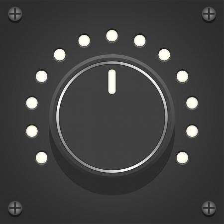 Layered vector illustration of black Volume Control.