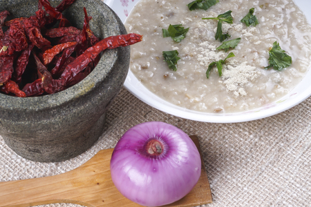 rice porridge  with chicken mixed