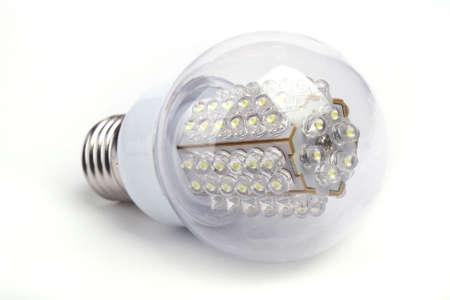 Close up LED Bulb isolated on white background