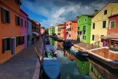 Burano colorful village  venice ,Italy