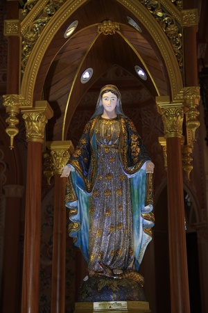 Virgin mary statue at Chantaburi province, Thailand