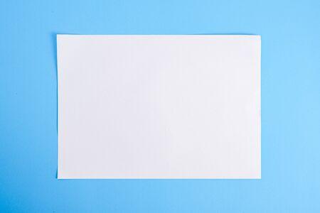 Photo pour white torn paper with blue background, ready for design - image libre de droit