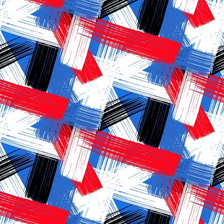 Vector seamless bold plaid pattern