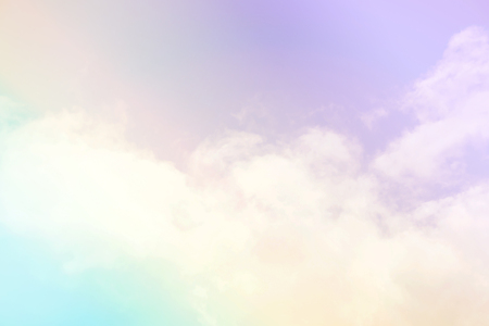 Photo pour Abstract background Scene bottom view of beautiful clear blue sky with white clouds ,beautiful nature in summer day time, feel soft and smooth,relax, peacefull and romantic love moment. - image libre de droit
