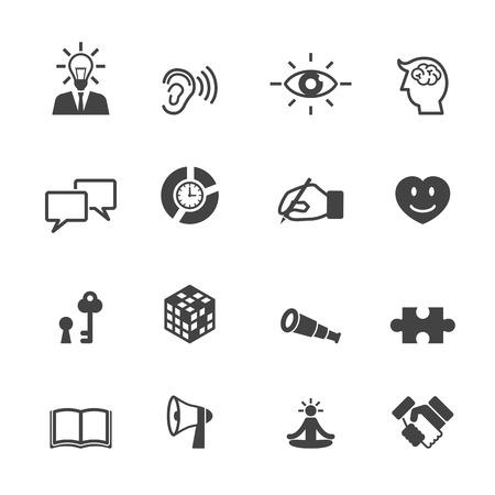 skill icons, mono vector symbols