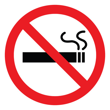 no smoking symbol, vector icons