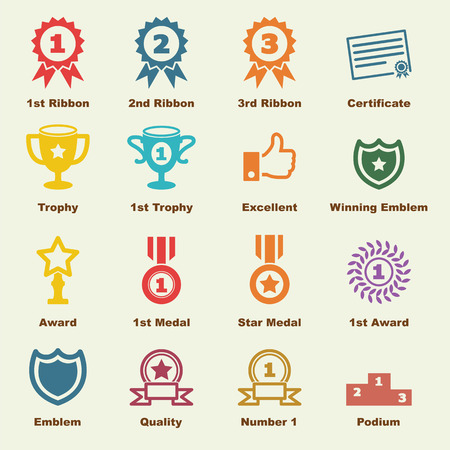 award elements, vector infographic icons