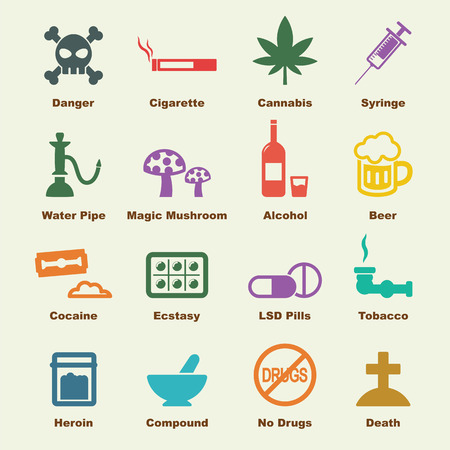 drug elements, vector infographic icons