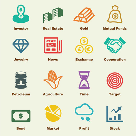 investment elements, vector infographic icons