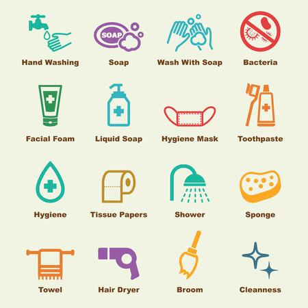 Illustration pour hygiene elements - image libre de droit