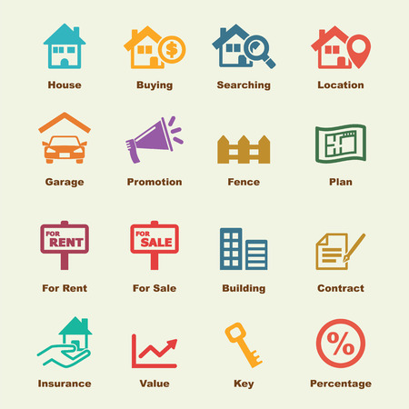 real estate elements, vector infographic icons