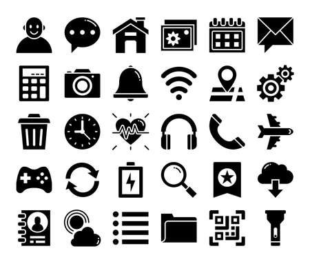 Foto für mobile user interface glyph vector icons pixel perfect - Lizenzfreies Bild