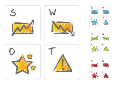SWOT analysis icons