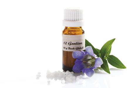 Homeopathic globules, Gentian (Gentiana)