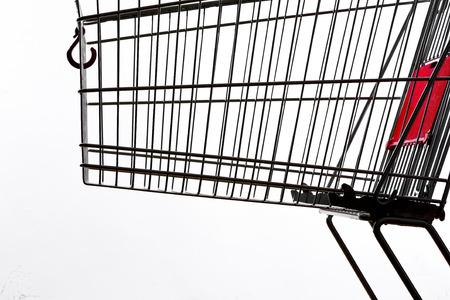 Shopping cart, close up