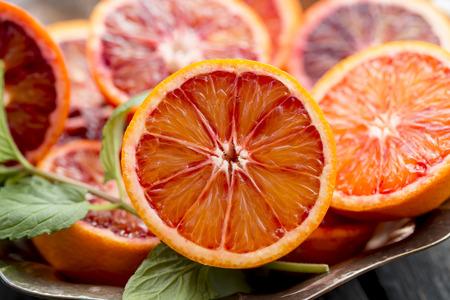 Foto de Sliced blood orange - Imagen libre de derechos