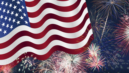 Fourth of July Background, Fireworks, USA themed composites