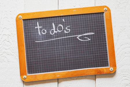 Vintage blackboard with to do\'s, task list