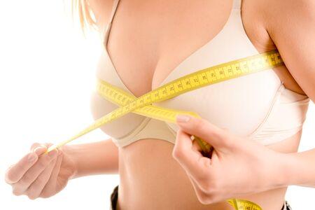 Photo pour Measuring chest girth - image libre de droit