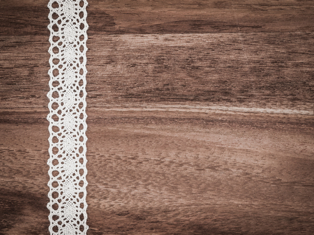 Photo pour Christmas, lace, background wood, present - image libre de droit
