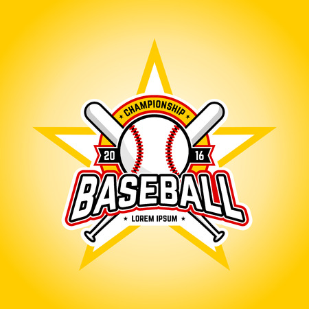 Baseball tournament professional logo. Vector design template.