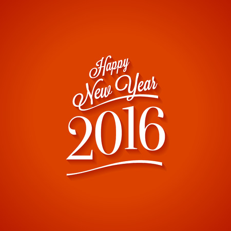 Text design of happy new year 2016.
