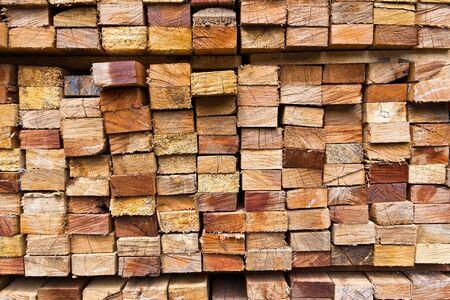 Photo pour stack of wood logs for background - image libre de droit