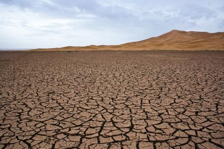 Dry lake at the sahara in Morocco