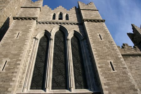 Saint Patrick's Cathedral detail in Dublin, Ireland